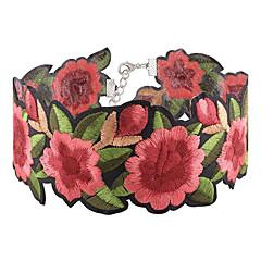 お買い得  ネックレス-女性用 チョーカー  -  フラワー ファッション, 欧米の レッド ネックレス ジュエリー 1個 用途 パーティー