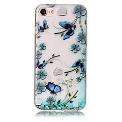 Недорогие Кейсы для iPhone 6 Plus-Кейс для Назначение Apple iPhone X / iPhone 8 Plus Рельефный / С узором Кейс на заднюю панель Бабочка / Цветы Мягкий ТПУ для iPhone X / iPhone 8 Pluss / iPhone 8