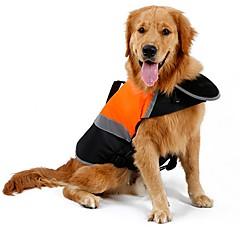 abordables Accesorios y Ropa para Perros-Gato Perro Impermeable Chaleco Chaleco salvavidas Ropa para Perro Un Color Naranja Verde Algodón Terileno Disfraz Para mascotas Hombre