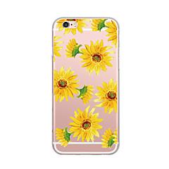 Недорогие Кейсы для iPhone 5-Кейс для Назначение IPhone 7 / iPhone 7 Plus / iPhone 6s Plus Ультратонкий / С узором Кейс на заднюю панель Цветы Мягкий ТПУ для iPhone SE / 5s
