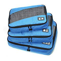 3 قطع حقيبة السفر منظم أغراض السفر المحمول قابلة للطى مضاعف سعة كبيرة تخزين السفر اكسسوارات السفر إلى ملابس قماش البوليستر النسيج الشبكي