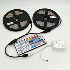 preiswerte LED Lichtstreifen-ZDM® 10m Leuchtbänder RGB 600 LEDs 2835 SMD RGB Fernbedienungskontrolle / Schneidbar / Abblendbar 12 V / Selbstklebend