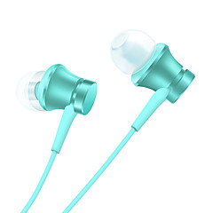 Original Xiaomi Piston Earphone for Cellphone Computer In-Ear Wired Plastic 3.5mm With Microphone Noise-Cancelling