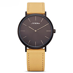 お買い得  レディース腕時計-女性用 ファッションウォッチ クォーツ 本革 バンド ハンズ カジュアル ブラック / ブルー / ブラウン - Brown ライトブルー カーキ色