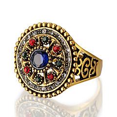 お買い得  指輪-女性用 ステートメントリング / 指輪 - 樹脂, 合金 オリジナル, ぜいたく, ユニーク 7 / 8 / 9 レッド / グリーン / ブルー 用途 パーティー / 記念日 / 誕生日