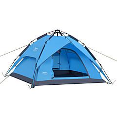 DesertFox® 3-4人 テント ダブル キャンプテント 1つのルーム 自動テント 防水 防雨 のために キャンピング 2000-3000 mm オックスフォード cm