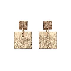 tanie Kolczyki-Damskie Dla dziewczynek Kolczyki wiszące Biżuteria Unikalny Geometryczny Kwadrat Wyrazista biżuteria Klasyczny Modny Osobiste