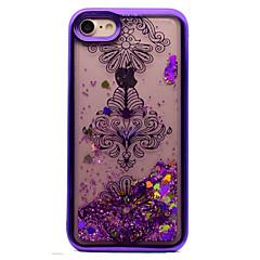 Для iphone 7 7 плюс крышка корпуса покрытие текущая жидкость шаблон задняя крышка чехол цветок блеск блеск мягкий tpu для 6s 6 плюс 6s se