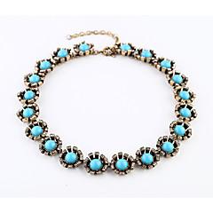 お買い得  ネックレス-女性用 チェーンネックレス  -  オリジナル, ファッション ライトブルー ネックレス ジュエリー 用途 クリスマスギフト, パーティー, ありがとうございました