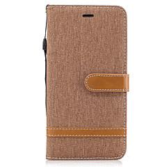 Недорогие Кейсы для iPhone 7 Plus-Кейс для Назначение Apple iPhone X iPhone 8 Бумажник для карт Кошелек со стендом Флип Чехол Сплошной цвет Твердый текстильный для iPhone