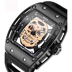 tanie Zegarki męskie-Męskie Dla par Szkieletowy Modny Zegarek na nadgarstek Zegarek na bransoletce Unikalne Kreatywne Watch Na codzień Sportowy Wojskowy Do