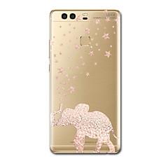 billige Etuier/covers til Huawei-Etui Til Huawei P9 Huawei P9 Lite Huawei P8 Huawei Huawei P9 Plus Huawei P7 Huawei P8 Lite Ultratyndt Mønster Bagcover Elefant Blødt TPU