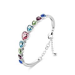 preiswerte Armbänder-Damen Kristall Armreife - Sterling Silber, Krystall Freunde Luxus, Böhmische, Natur Armbänder Regenbogen Für Party Geburtstag Valentinstag