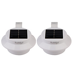 cheap LED Novelty Lights-YouOKLight 2PCS 0.5W 1.2V 0.1A 3*3528 SMD Warm White/Cold White LED Light Mini IP68 Waterproof Solar Powered Fence /Garden/Water Lamp Black/White