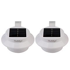 baratos Lâmpadas de LED Inovadoras-Youoklight 2pcs 0.5w 1.2v 0.1a 3 * 3528 smd branco quente / luz branca levou luz mini ip68 impermeável solar alimentado cerca / jardim /