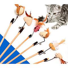 Zabawka dla kota Zabawki dla zwierząt Interaktywne Wędki dla Kota Trwały Materiał
