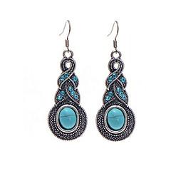 preiswerte Ohrringe-Damen Tropfen-Ohrringe - Krystall Tropfen Anhänger Stil Blau Für Weihnachts Geschenke Hochzeit Party