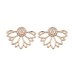 preiswerte Ohrringe-Damen Ohrstecker / Gestlyte Ohrringe Vorne Hinten - Krystall Blume Gold / Silber Für Weihnachts Geschenke / Hochzeit / Party
