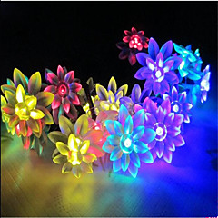 6W W String Lights 7 lm AC220 10 m 100 leds Warm White White RGB Yellow Blue Purple Pink
