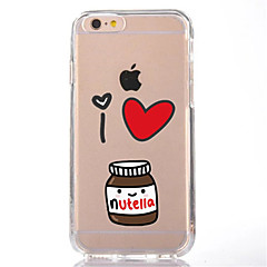 Voor iPhone X iPhone 8 Hoesje cover Transparant Patroon Achterkantje hoesje Cartoon Zacht TPU voor Apple iPhone X iPhone 7s Plus iPhone 8