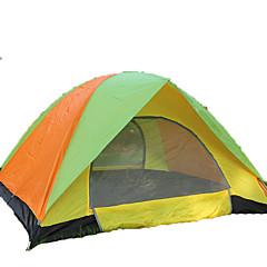 GAZELLE OUTDOORS 3-4 사람 텐트 더블 베이스 캠핑 텐트 원 룸 접이식 텐트 수분 방지 방수 방풍 자외선 방지 폴더 통기성 용 하이킹 캠핑 야외 <1000mm 유리 섬유 옥스포드-190*180*120 CM