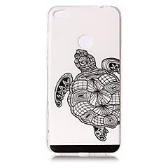 Для Чехлы панели Прозрачный Рельефный С узором Задняя крышка Кейс для Животный принт Мягкий TPU для HuaweiHuawei P10 Plus Huawei P10 Lite