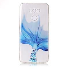 Недорогие Чехлы и кейсы для LG-Кейс для Назначение LG Прозрачный С узором Рельефный Кейс на заднюю панель Кружева Печать Мягкий ТПУ для LG G6
