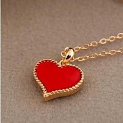 Муж. Жен. Ожерелья-бархатки Ожерелья с подвесками Ожерелья-цепочки Бижутерия В форме сердца Сплав Базовый дизайн Уникальный дизайн В виде