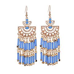 preiswerte Ohrringe-Damen Tropfen-Ohrringe - Einzigartiges Design, Retro Grün / Blau / Regenbogen Für Party / Alltag / Normal