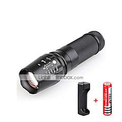 LED taskulamput LED 3000 Lumenia 5 Tila Cree T6 1 x 18650 akku Säädettävä fokus Iskunkestävä Lipsumaton kädensija Vedenkestävä Isku