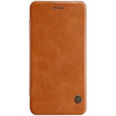 sillä Xiaomi mi 6 nillkin suojus kortin haltija automaattinen uni / flip kokovartalo tapauksessa yksivärinen kova pu nahka Xiaomi