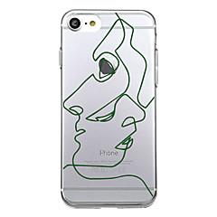 Назначение iPhone X iPhone 8 Чехлы панели Ультратонкий С узором Задняя крышка Кейс для Полосы / волосы Мягкий Термопластик для Apple