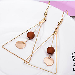 Women's Drop Earrings Acrylic Simple Style Costume Jewelry Alloy Triangle Shape Jewelry For Daily