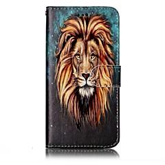 voordelige Hoesjes / covers voor LG-hoesje Voor LG Kaarthouder Portemonnee met standaard Flip Magnetisch Patroon Reliëfopdruk Volledig hoesje dier Hard PU-nahka voor LG G6