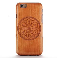 Недорогие Кейсы для iPhone 6-Кейс для Назначение iPhone 6s / iPhone 6 / Apple Рельефный / С узором Кейс на заднюю панель Имитация дерева / Мандала Твердый деревянный для
