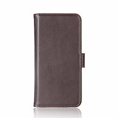 Taske til mi 6 redmi note 4 dækning kort holder holdere med stativ flip magnetisk fuld kropscase solid farve hårdt ægte læder til xiaomi