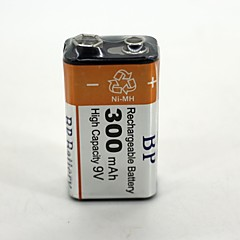 1 Pcs Bp 9V 9 Volt Ni-Mh Rechargeable Battery Bateria Baterias 300Mah