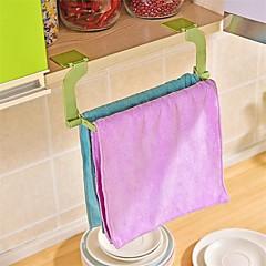 1pcs perforación de pasta perfecta libre toalla rack colgante toalla cocina baño toalla de baño color aleatorio