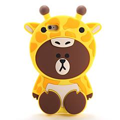 Недорогие Кейсы для iPhone-Кейс для Назначение Apple iPhone 7 Plus iPhone 7 С узором Кейс на заднюю панель 3D в мультяшном стиле Мягкий Силикон для iPhone 7 Plus