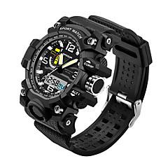 preiswerte Tolle Angebote auf Uhren-SANDA Herrn Sportuhr Japanisch Wasserdicht / LED / Cool Silikon Band Schwarz