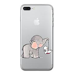 Недорогие Кейсы для iPhone 6 Plus-Кейс для Назначение Apple iPhone X iPhone 8 Прозрачный С узором Кейс на заднюю панель Слон Мягкий ТПУ для iPhone X iPhone 8 Pluss iPhone