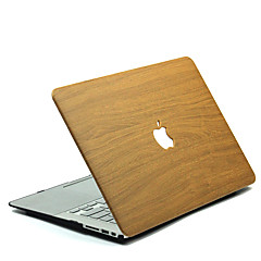 tanie Akcesoria do MacBooka-Etui na MacBook Tekstura drewna Poliwęglan na MacBook 12' / MacBook 13' / MacBook Air 11'
