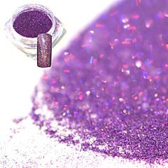 Χαμηλού Κόστους -0.2g / μπουκάλι μόδα ρομαντική μωβ πανέμορφο χρώμα λέιζερ νυχιών τέχνη λάμψη ολογραφική σκόνη diy γοητεία λάμψη χρωστική λάμψη διακόσμηση