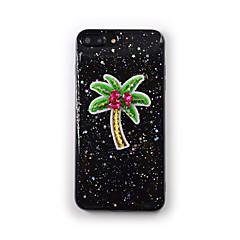 Недорогие Кейсы для iPhone 7-Кейс для Назначение Apple iPhone 7 Plus iPhone 7 Движущаяся жидкость Прозрачный С узором Кейс на заднюю панель дерево Мягкий Силикон для