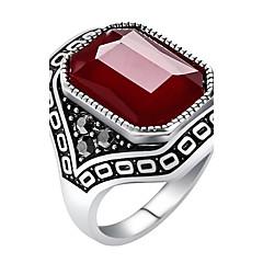 preiswerte Ringe-Damen Statement-Ring Ring - Harz, Aleación Erklärung, Personalisiert, Luxus 7 / 8 / 9 / 10 Rot / Grün / Blau Für Party Jahrestag Geburtstag