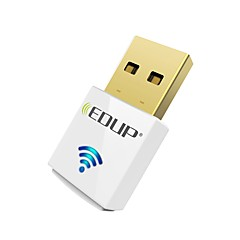 abordables Accesorios de Red-Edup usb wirelss wifi adaptador 600mbps doble banda 11ac mini tarjeta de red inalámbrica dongle ep-ac1619