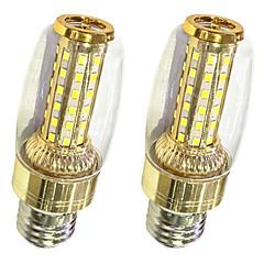 お買い得  LED 電球-2pcs 9 W 620 lm E26 / E27 LEDコーン型電球 T 58 LEDビーズ SMD 2835 温白色 / ホワイト 220-240 V