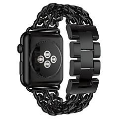 Horlogeband voor appelwatch 38mm 42mm roestvrijstalen vervanging armband vlinder gesp