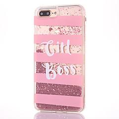 Для apple iphone 7 7 плюс 6s 6 плюс кейс для крышки буквенный шаблон мягкий край бриллиантовый шарик quicksand высокий уровень