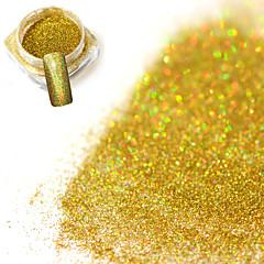 Χαμηλού Κόστους -0.2g / μπουκάλι μόδα πανέμορφο λέιζερ χρυσό λάμπει διακόσμηση καρφί τέχνης λάμψη ολογραφική σκόνη diy γοητεία λάμπει χρωστική jx02